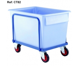 Ref: PLAS CT82P Plastic Container Truck Complete with container (360 Litre capacity)