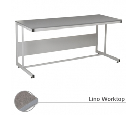 Cantilever Workbench with Lino Worktop
