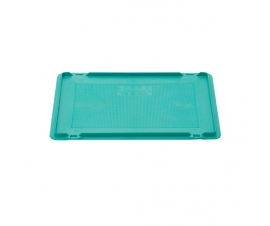 Drop-on plastic Euro container lid for 400 x 300mm Coloured Euro Containers