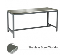 Extra Heavy Duty Engineering Workbench with Stainless Steel Worktop
