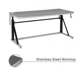 Adjustable Cantilever Workbench with Stainless Steel Worktop