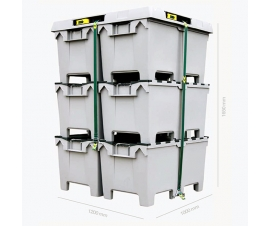 HogBox Lid can secure up to 6 HogBoxes (3 side by side)