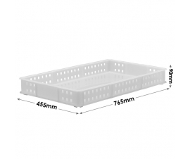 Stacking Confectionery Tray mesh sides and solid base