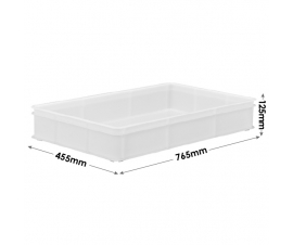 White Confectionery Tray with Solid Sides and Base - M211B