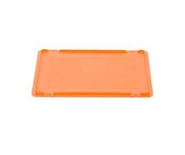Hinged plastic Euro container lid for 400 x 300mm Coloured Euro Containers