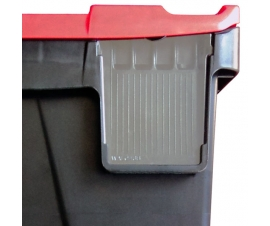 Clear Label Holder for 24 Litre Plastic Hinged Lid Crates