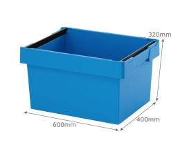 Blue Plastic Stacking and Nesting Storage Containers
