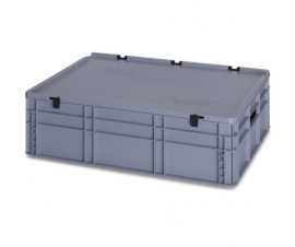 800mm x 600mm x 240mm PLASED86_22-Euro-Container-Lidded