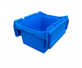 Plastic Storage Box with Open Hinged Lid