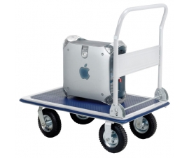 Rough terrain platform truck with pneumatic wheels