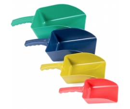 Plastic Scoops for Food, Sweets and Ingredients