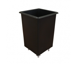 Large Black Plastic Bar Truck Trolley - 118 Litres