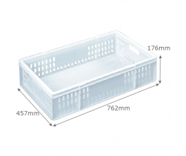 Confectionery Tray 48 Litre Vented-Sides