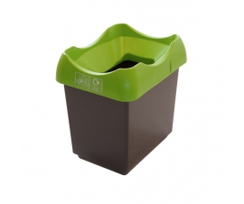 30 Litre Recycling Bins with Lime Green Lid