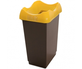 Open Top Recycling Bins with Colour Coded Lids