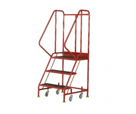 Ref: S040 Premier Commercial Mobile steps - 3 Tread (24kgs)