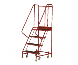 Ref: S044 Premier Commercial Mobile steps - 4 Tread (28kgs)