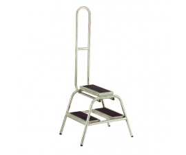 S210 Stainless Steel Portable 2 Steps with Grab Rail