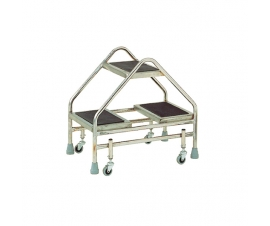 S211 Stainless Steel Steps 2 Double Steps without Grab Rail