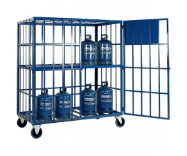SC501 Cylinder Storage Cage - Mobile with shelf (16 x Calor)