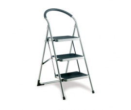 Step Ladder with 3 Treads and Support Handle