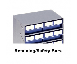 Retaining Safety Bars for Storage Bin Cabinets