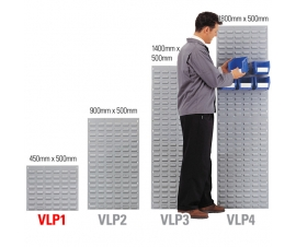 VLP1 Louvre Panel 450mm x 500mm for Wall Mounting Linbins