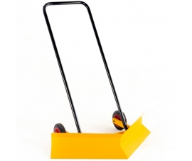 V angled blade snow plough for easy removal of snow