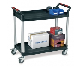 Ref: PLAS WHTT2SL 2 drawer utility tray trolley (Load capacity 120kgs)