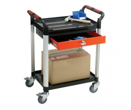 2 Shelf Trolley with Drawer