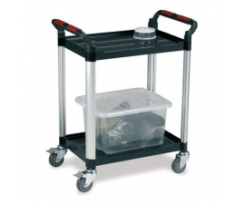 Ref: PLAS WHTT2SS 2 drawer utility tray trolley (Load capacity 100kgs)