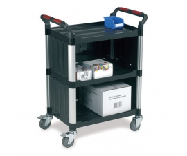 3 Shelf Utility Shelf Trolley with enclosed back and sides