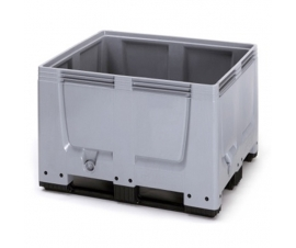 Plastic Pallet Box with skids/runners - Economy Range