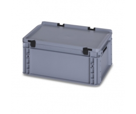 15 Litre Plastic Container with Lid (Euro/Stacking) ED43-17