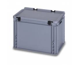 26 Litre Plastic Container with Lid (Euro/Stacking) ED43-27