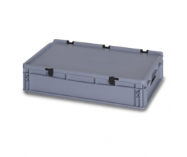 24 Litre Plastic Container with Lid (Euro/Stacking) ED64-12