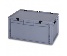 56 Litre Plastic Container with Lid (Euro/Stacking) ED64-27