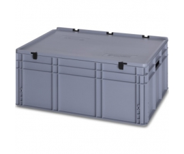 130 Litre Plastic Container with Lid (Euro/Stacking) ED86-32