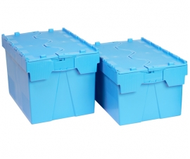 Blue Range Attached Lid Containers
