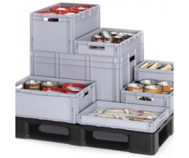 Economy Range Stacking Containers with Hand Holes
