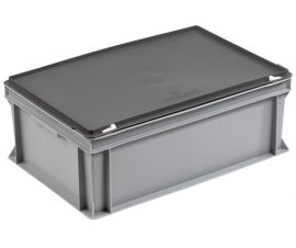 Grey Euro Stacking Cases Containers with Lids
