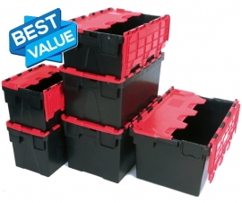 Plastic Attached Lid Containers Made from Recycled Plastic Range