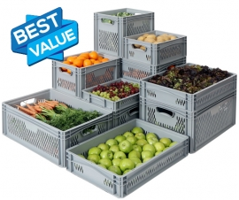 Ventilated/Perforated Euro Stacking Containers Basicline Range