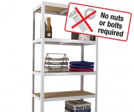 Clicka Low Cost Shelving Bays