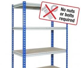 Z Rivet Shelving Bay