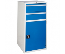 Euroslide Cabinet with 2 Drawers and 1 Cupboard in blue