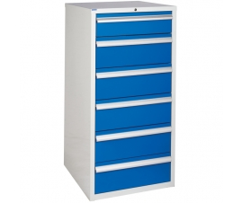 Euroslide cabinet with 6 drawers in blue