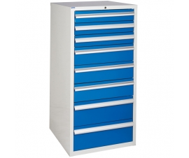 Euroslide cabinet with 8 drawers in blue