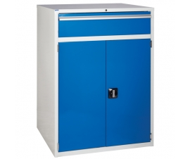 Euroslide cabinet with 1 drawer and 1 cupboard in blue