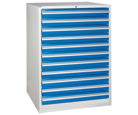 Euroslide cabinet with 11 drawers in blue